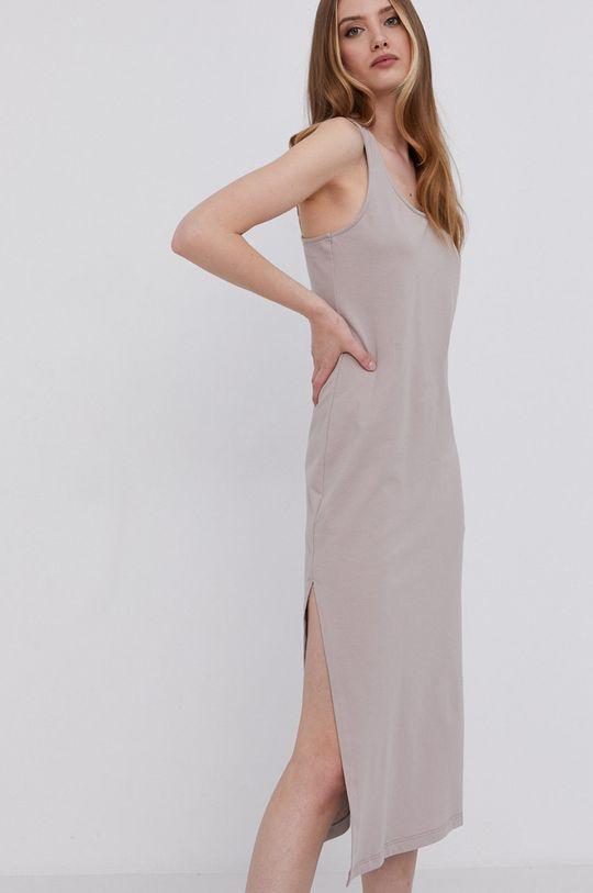 answear.LAB Šaty s certifikátem OEKO limitovaná kolekce Ethical Wardrobe béžová