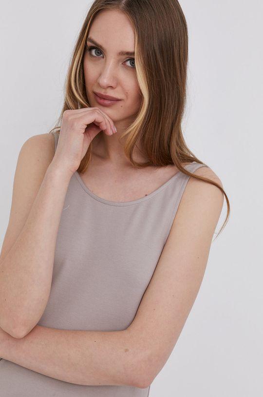béžová answear.LAB Šaty s certifikátem OEKO limitovaná kolekce Ethical Wardrobe