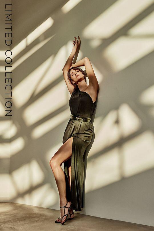 černá answear.LAB Šaty s certifikátem OEKO limitovaná kolekce Ethical Wardrobe Dámský