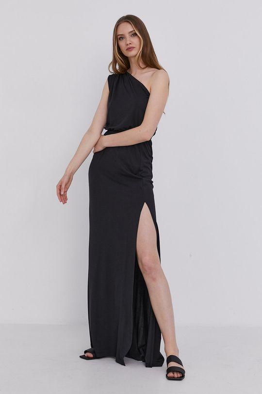 answear.LAB Šaty s certifikátem OEKO limitovaná kolekce Ethical Wardrobe černá