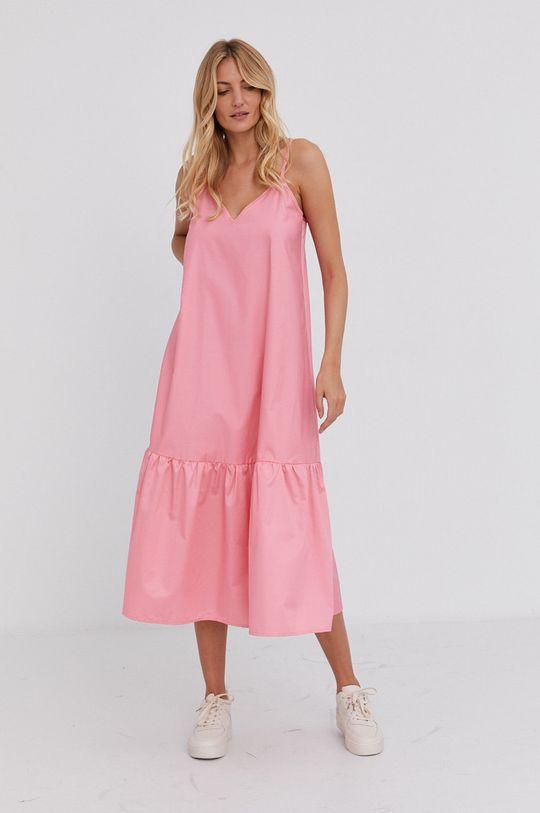 Answear Lab - Šaty ostrá růžová