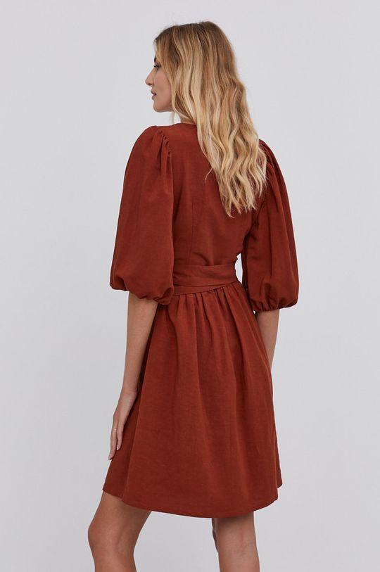 Answear Lab - Sukienka 38 % Len, 62 % Wiskoza