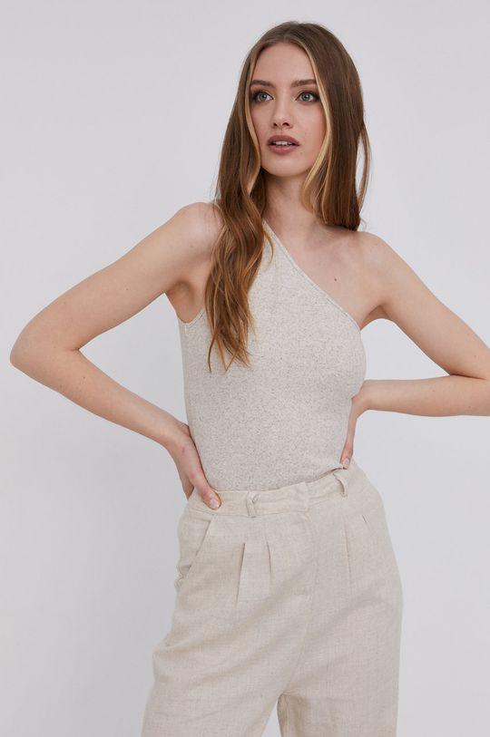 answear.LAB Top s certifikátem OEKO limitovaná kolekce Ethical Wardrobe béžová