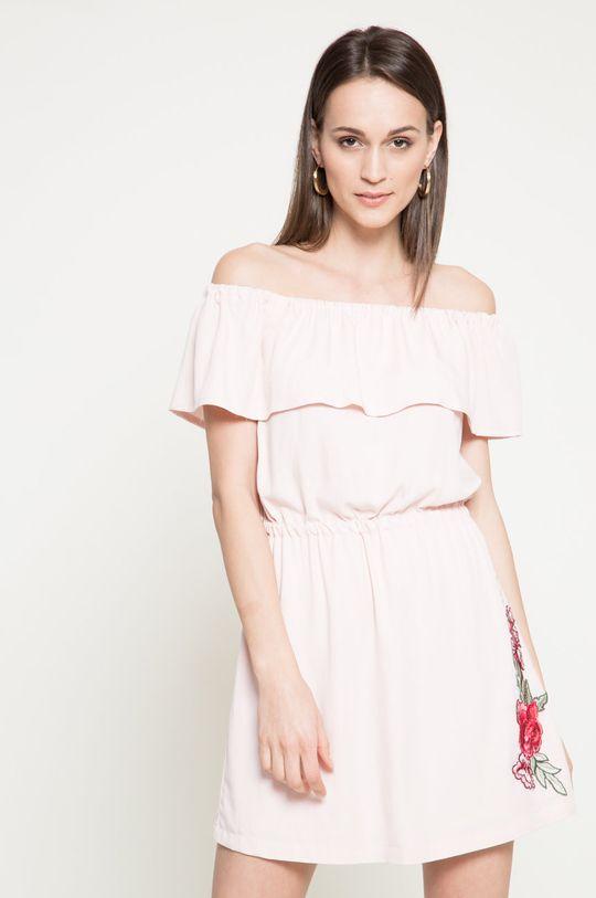 pastelová ružová Answear - Šaty Because of you Dámsky