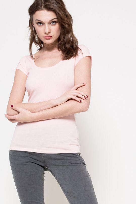 pastelová ružová Answear - Top Dámsky