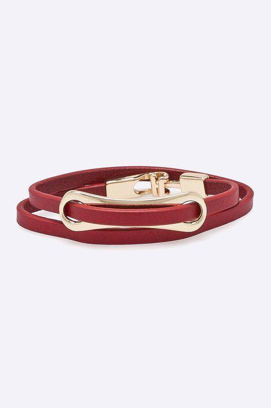 červená Answear - Kožený náramok Dámsky