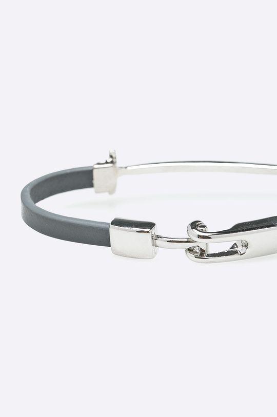 Answear - Kožený náramok sivá