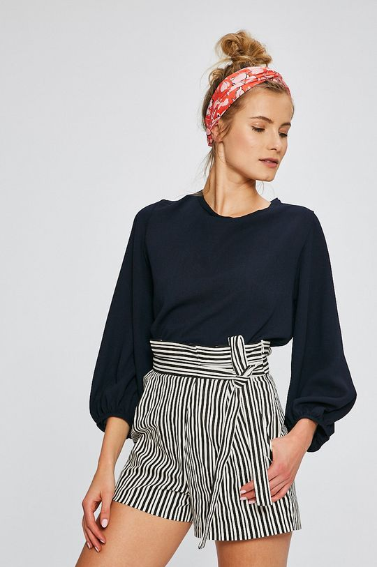 tmavomodrá Answear - Blúzka Stripes Vibes Dámsky