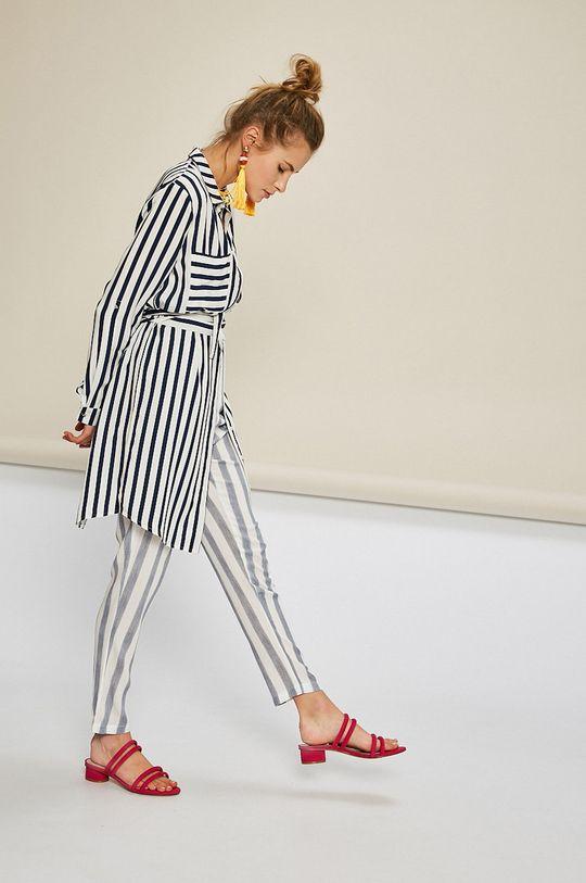 krémová Answear - Košeľa Stripes Vibes Dámsky