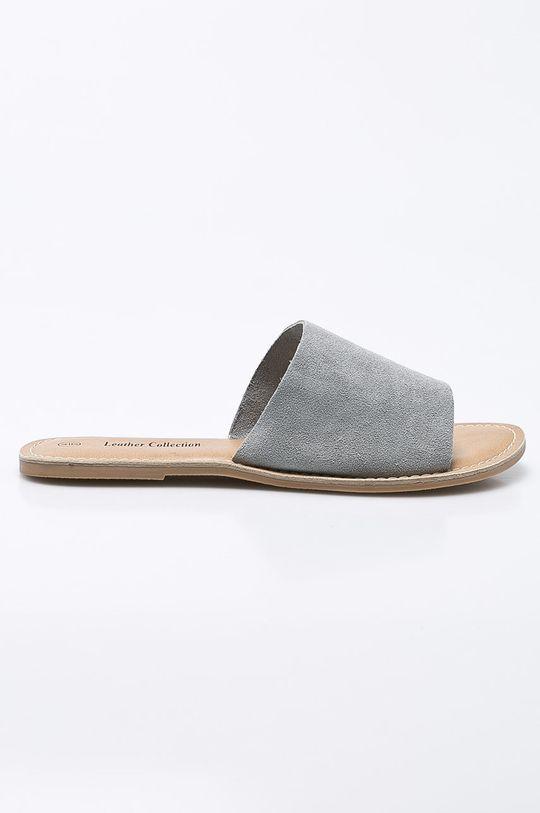 sivá Answear - Šľapky Leather Collection Dámsky
