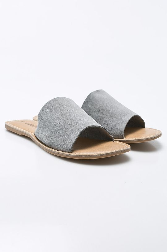 Answear - Šľapky Leather Collection sivá