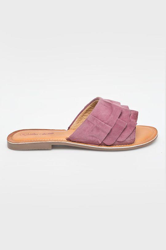 fialová Answear - Šľapky Leather Collection Dámsky