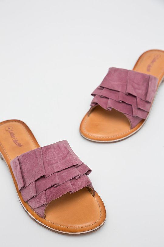 Answear - Šľapky Leather Collection fialová