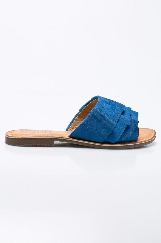 modrá Answear - Šľapky Leather Collection Dámsky