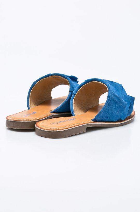 modrá Answear - Šľapky Leather Collection