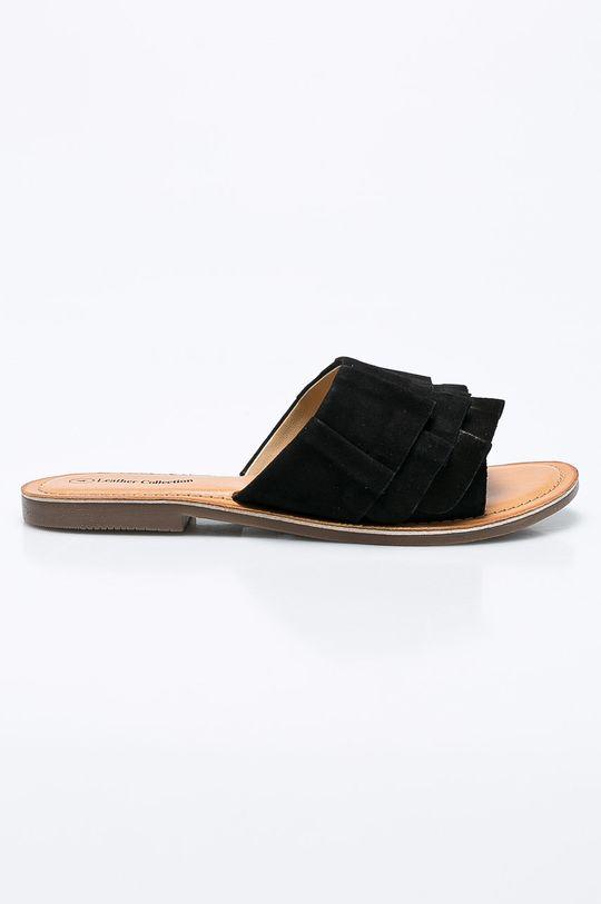 čierna Answear - Šľapky Leather Collection Dámsky