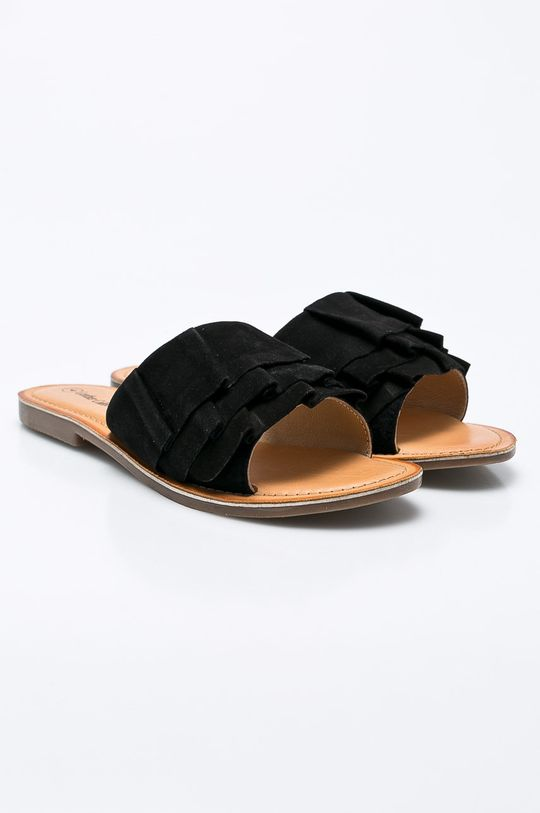 Answear - Šľapky Leather Collection čierna