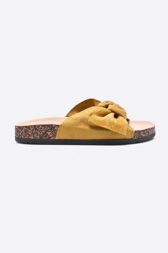 žltá Answear - Šľapky Ideal Shoes Dámsky