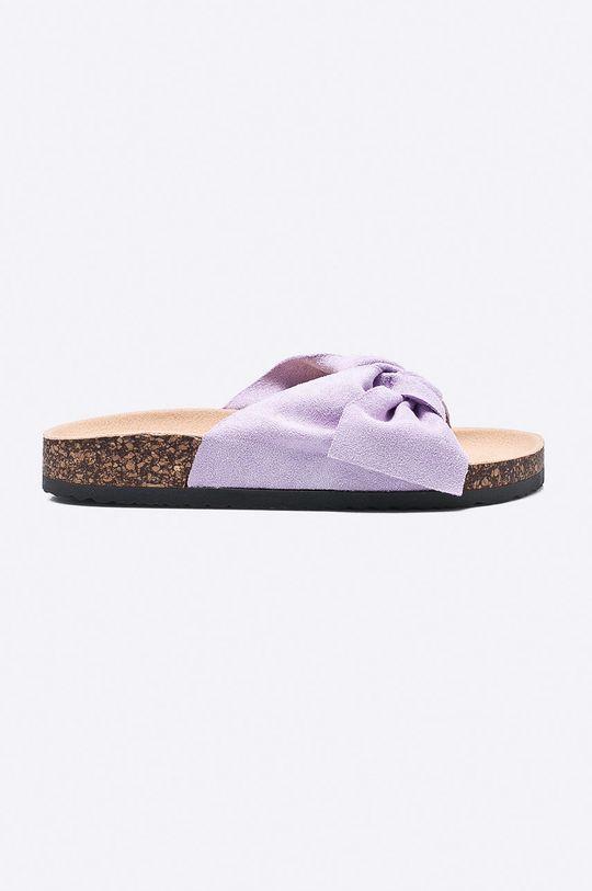 purpurový Answear - Šľapky Ideal Shoes Dámsky