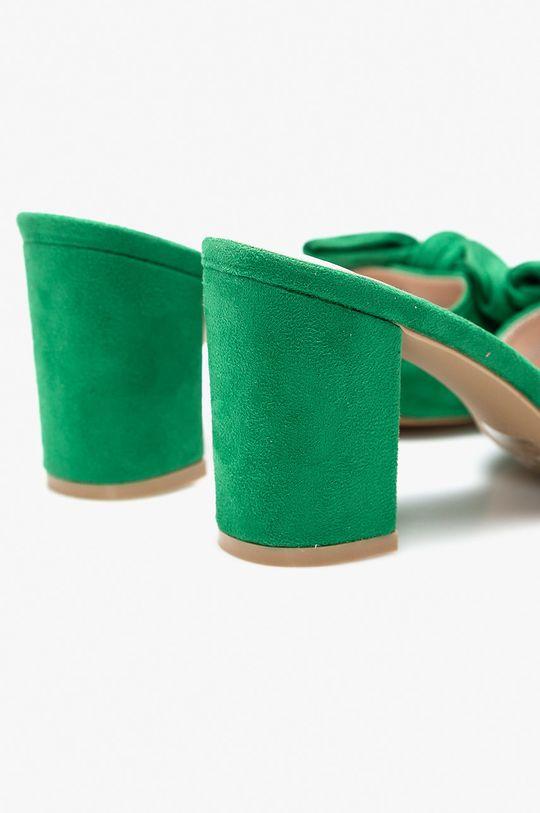 zelená Answear - Šľapky Moow