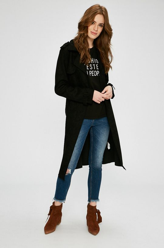 Answear - Kabát Wild Nature čierna