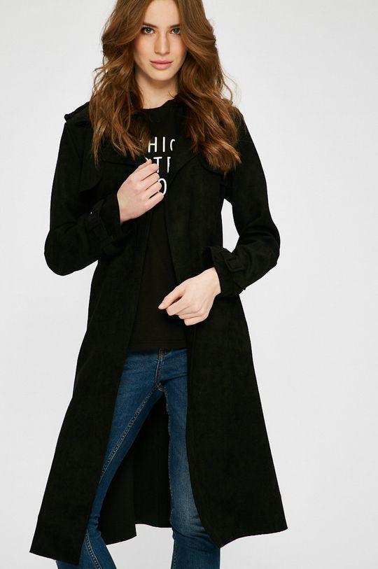 čierna Answear - Kabát Wild Nature