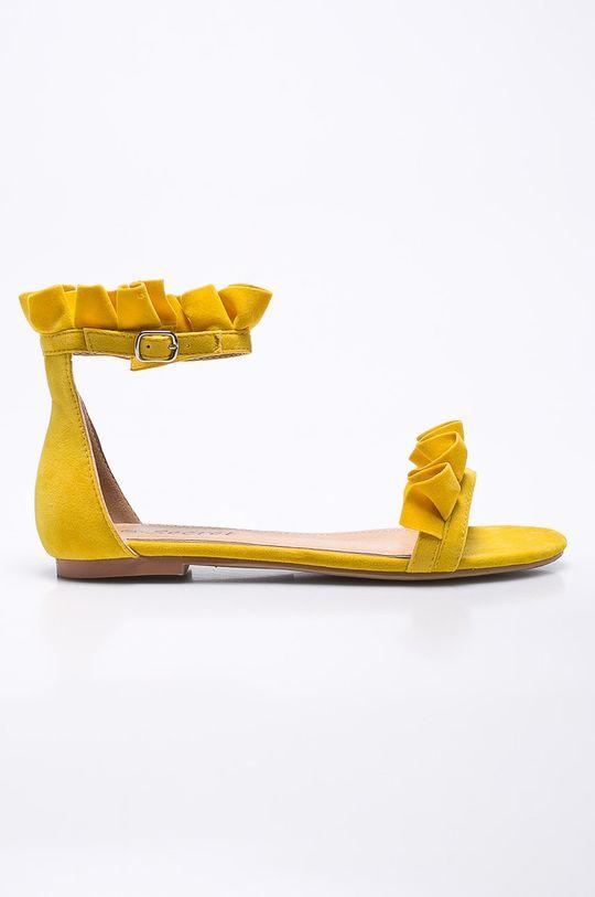 žltá Answear - Sandále Secret Dámsky
