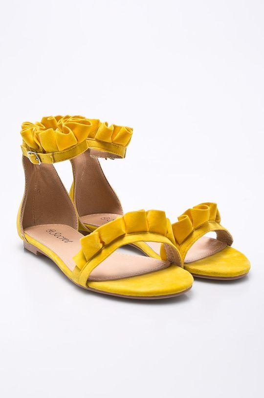 Answear - Sandále Secret žltá