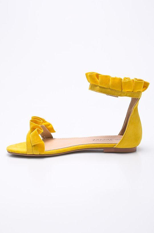 Answear - Sandále Secret <p>Zvršok: Textil Vnútro: Syntetická látka Podrážka: Syntetická látka</p>