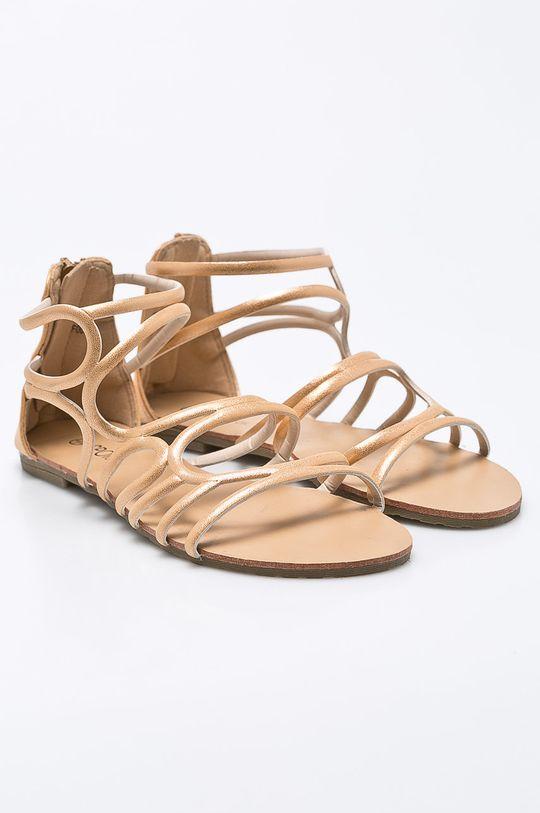 Answear - Sandále Spot On zlatá