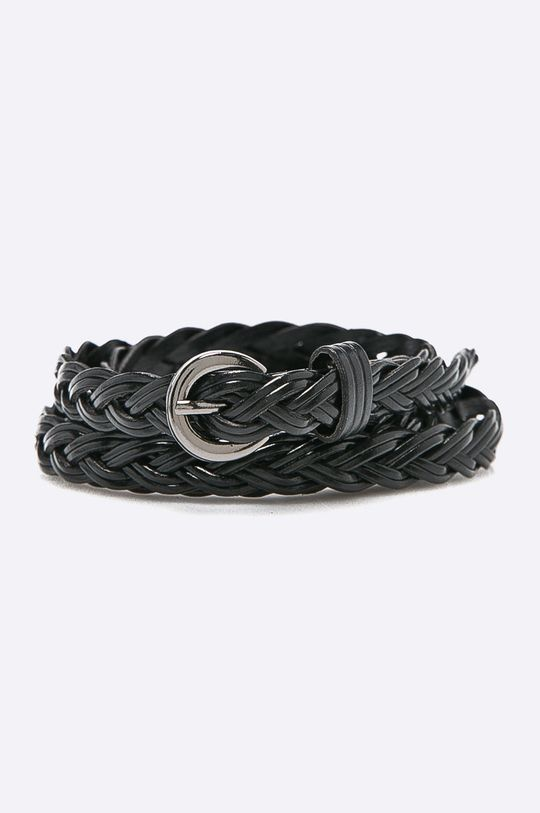 čierna Answear - Kožený opasok Dámsky