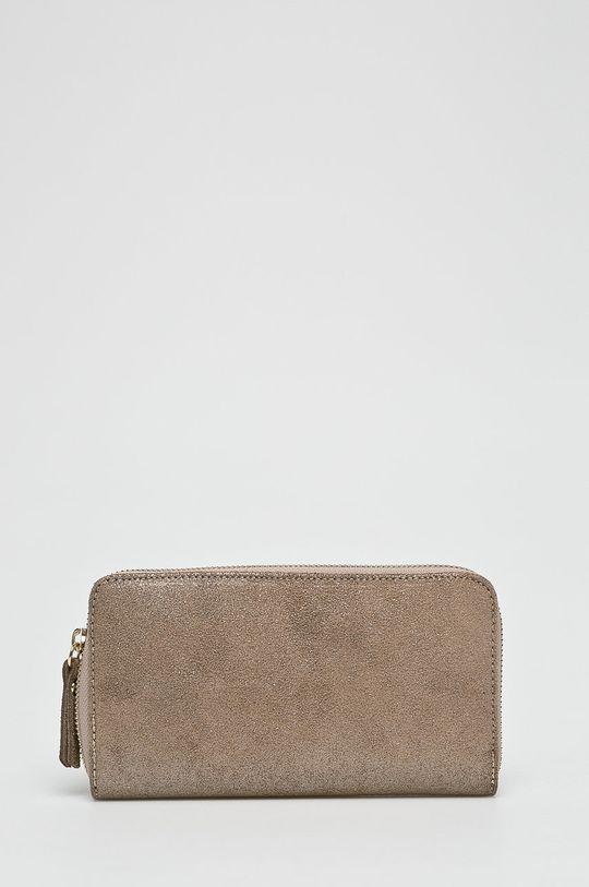 zlatá Answear - Kožená peňaženka Doriane Dámsky