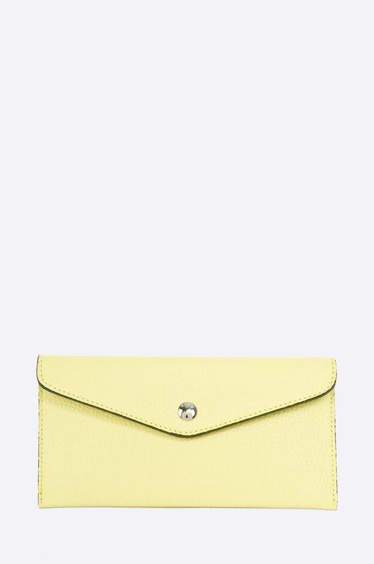 žltá Answear - Kožená peňaženka Dámsky