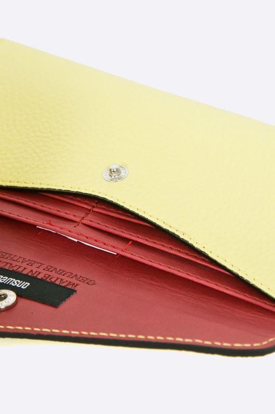 žltá Answear - Kožená peňaženka