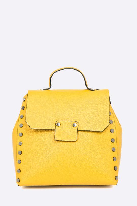 žltá Answear - Kožený ruksak Wild Nature Dámsky