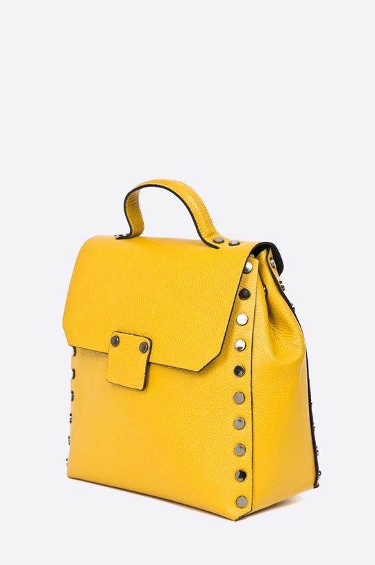 Answear - Kožený ruksak Wild Nature žltá