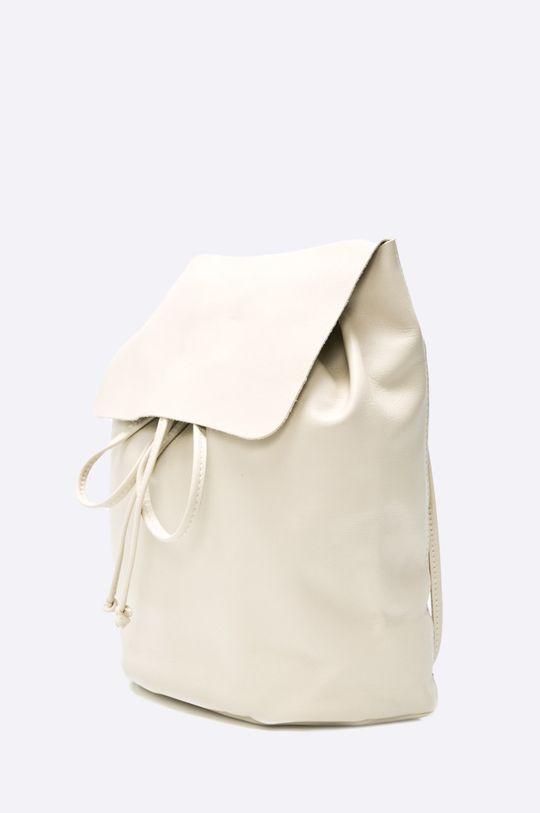 Answear - Kožený ruksak biela