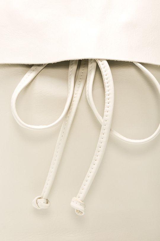 biela Answear - Kožený ruksak