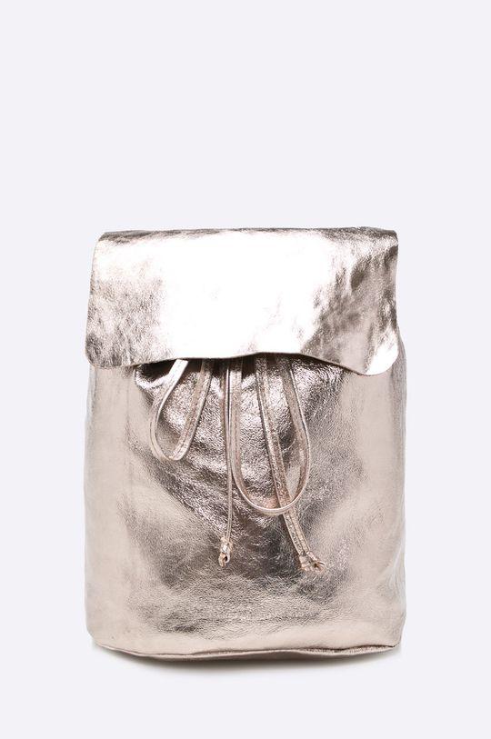 zlatá Answear - Kožený ruksak Dámsky