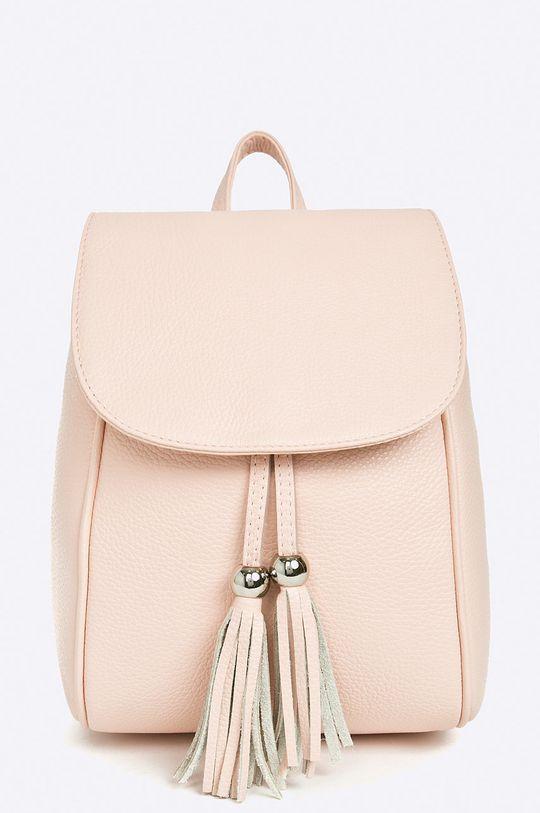 ružová Answear - Kožený ruksak Dámsky
