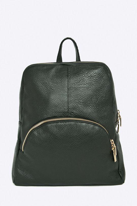 čierna Answear - Kožený ruksak Dámsky