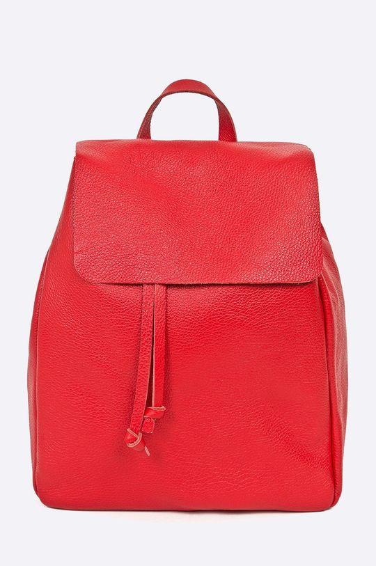 červená Answear - Kožený ruksak Stripes Vibes Dámsky