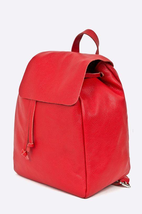 Answear - Kožený ruksak Stripes Vibes červená