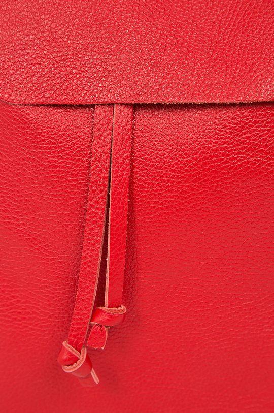 červená Answear - Kožený ruksak Stripes Vibes