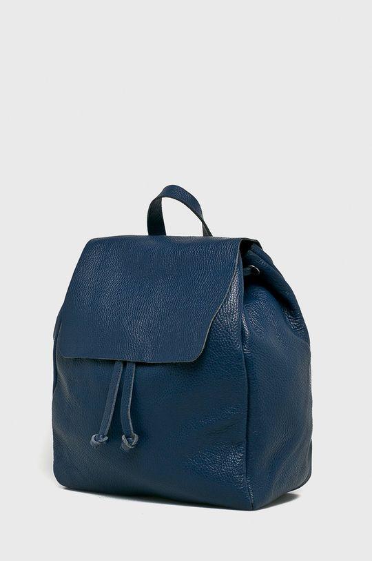 Answear - Kožený ruksak Stripes Vibes tmavomodrá