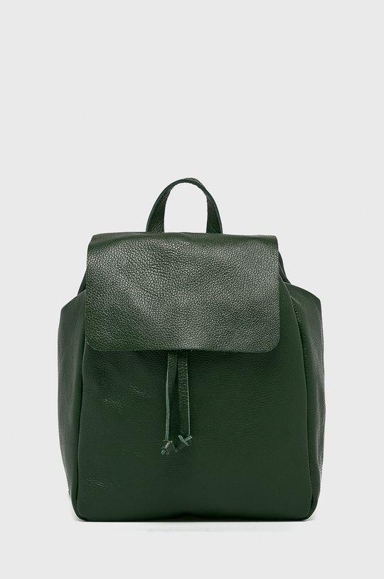 zelená Answear - Kožený ruksak Stripes Vibes Dámsky