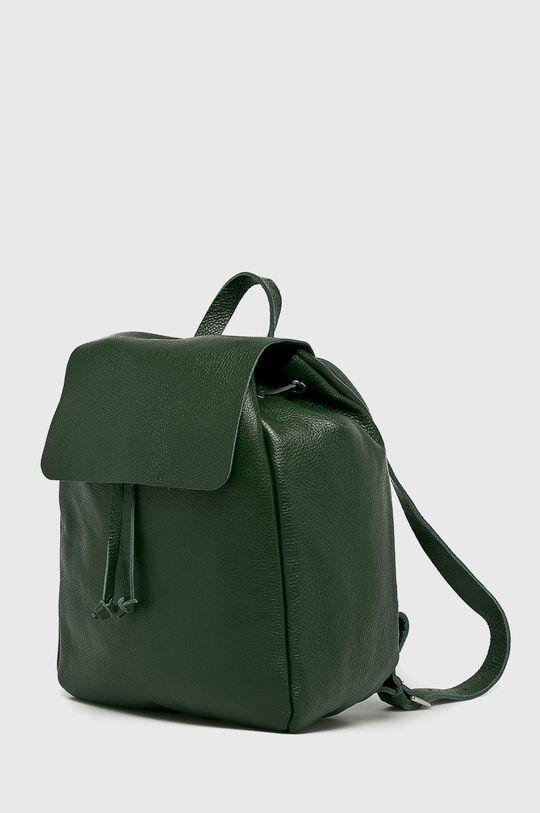 Answear - Kožený ruksak Stripes Vibes zelená