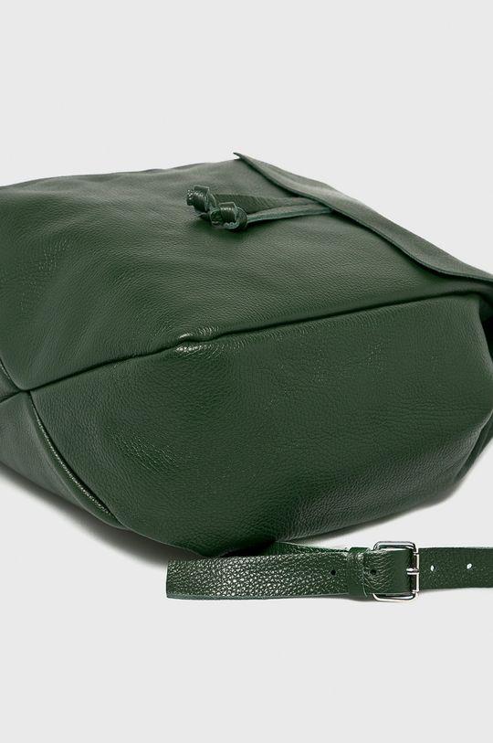 zelená Answear - Kožený ruksak Stripes Vibes