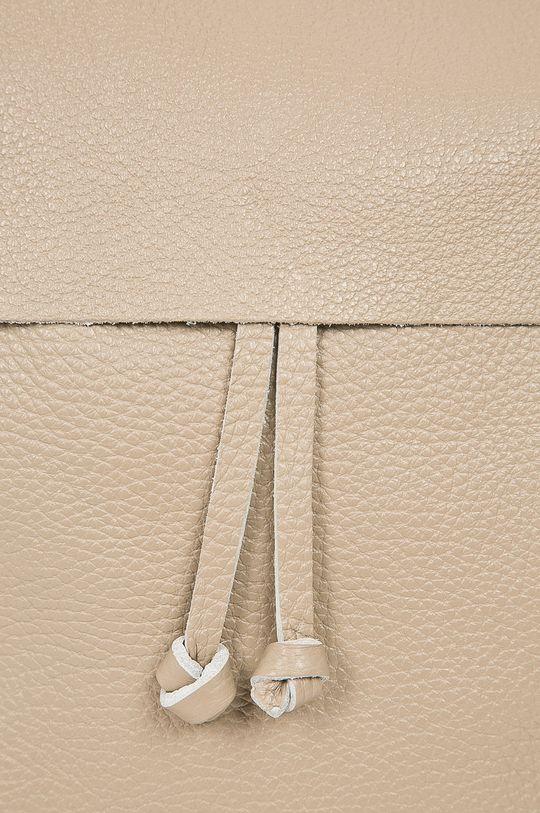 béžová Answear - Kožený ruksak Stripes Vibes