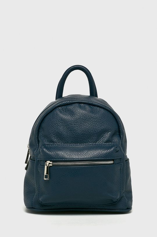 tmavomodrá Answear - Kožený ruksak Dámsky